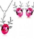 Reindeer Necklace-Earring Set