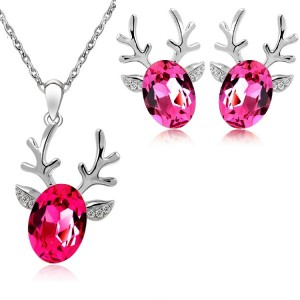 Reindeer Necklace-Earring Set