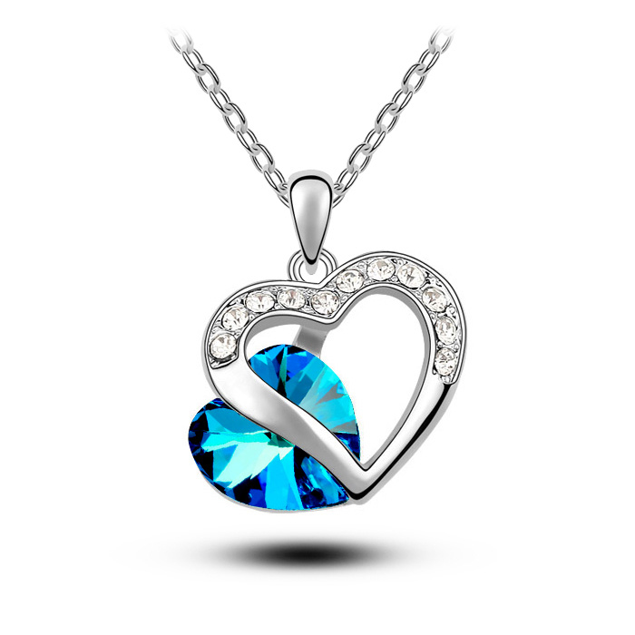 triangle blue zircons details crystal necklace studded mall pendant for com tvc women luxury delicate
