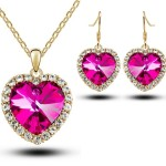 Heart Necklace Earring Set