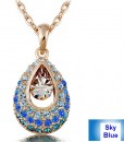 Crystal Angel Teardrop Pendant Fashion Jewelry Necklace