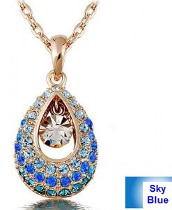 Crystal Angel Teardrop Pendant Fashion Jewelry Necklace