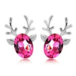 714-rein-deer-earring-rose-silver