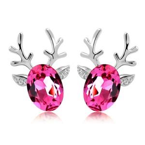 714-rein-deer-earring-rose-silver