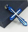 Blue Cross Necklace-2