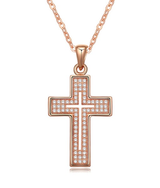 Cross Necklace-Rose-1