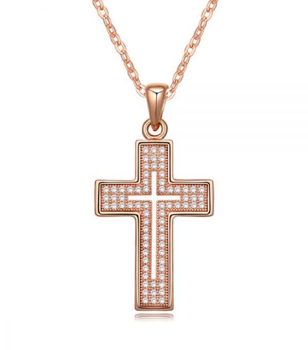 Cross Necklace-Rose-1