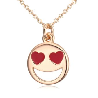 Smiley Emoji Necklace-Gold
