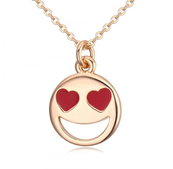 Smiley Emoji Necklace-Gold-n22883-1000px