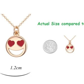 Smiley Emoji Necklace-Gold-n22883-Size