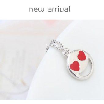 Smiley Emoji Necklace-Silver-n22884-2